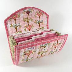 COUPON ORGANIZER - The Birds in the Trees - Coupon Wallet Coupon Holder pink birds. Who else loves this?