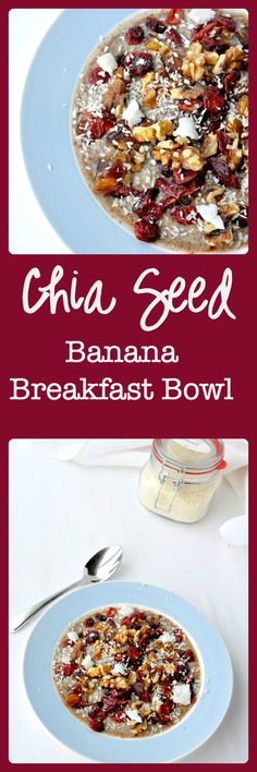 Chia Seed Banana Breakfast Bowl. Packed with protein and antioxidants and bursting with flavour. |www.flavourandsavour.com