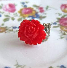Red Rose Ring by Jewelsalem, $3.98