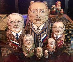 Russian Leaders Pyrography Matryoshka
