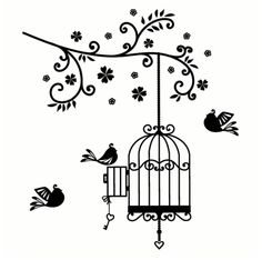 """""""family tree branch"""" added with flowers (along w/birdcage, open door and a bird flying away)?"""