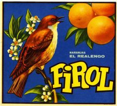 Spain Pirol Sparrow Bird Orange Crate Label Art Print
