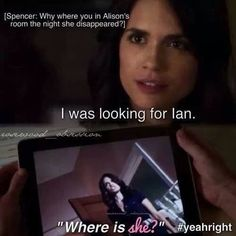 "Theory: Maybe when Melissa says ""Where is she?"" on the night that Ali went missing she was actually referring to Spencer."