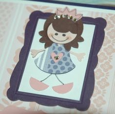 """Pretty Princess Punch Art uses Owl punch (dress, arms, heart), Boho Blossoms (Hair and crown) and 1/2"""", 3/4"""" and 1"""" Circle."""