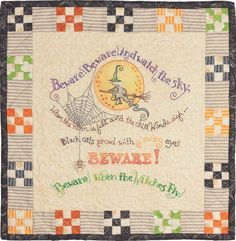 When Witches Fly Hand Embroidery Pattern by Crabapple Hill Studio
