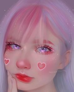 Anime Girl Cute, Kawaii Anime Girl, Anime Art Girl, Digital Art Girl, Digital Portrait, Portrait Art, Cartoon Kunst, Cartoon Art, Aesthetic Art