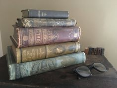 Antique Religious Book Bundle Cute Shabby Chic Decor for the
