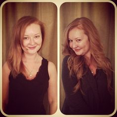 Before and after from the extensions I did this morning. #tracibcolor extensions red head hairdreams salontrose