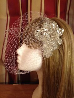 Custom made birdcage veil by MAsMadHouse on Etsy, $60.00