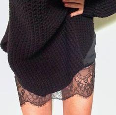 Lace & chunky knits