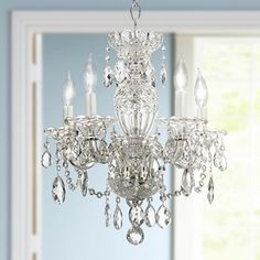 "Schonbek Sterling 16"" Wide Heritage Crystal Chandelier - #46536 