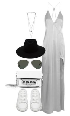 Untitled #2121 by sarah-ihab on Polyvore featuring Halston Heritage, Yves Saint Laurent, Linea Pelle, rag & bone and Ray-Ban