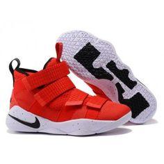 6dc85e82e889 Nike LeBron Soldier 11 Men s University Red Black-White-Total Crimson  897644-