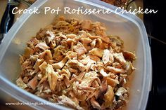 Crock Pot Rotisserie Chicken: I never knew this trick about putting foil-wads on the bottom of the crockpot!