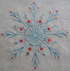 Olympus Sashiko Thread - SALMON # 25 - Skein - Japanese Embroidery & Quilting - NEW color for 2017 - Embroidery Design Guide Hand Embroidery Stitches, Hand Embroidery Designs, Embroidery Applique, Cross Stitch Embroidery, Cross Stitches, Christmas Embroidery, Snowflake Embroidery, Running Stitch, Fabric Art