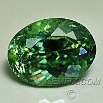 Demantoid Andradite Garnet, American Cut Gemstones