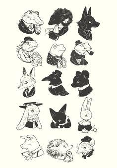 Illustration by tono Pretty Art, Cute Art, Art Sketches, Art Drawings, Random Drawings, Tattoo Sketches, Tattoo Drawings, Art And Illustration, Animal Illustrations