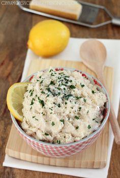 Parmesan Lemon Mashed Cauliflower