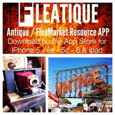 Love Antique - FleaMarket hunting & shopping ??? ...... Download the App FLEATIQUE on the Apple App Store for IPhone 5 - 5s - 5c & IPhone 6 ...... Vintage antiques American pickers antiques roadshow antique store shop mall find finds retro toy toys glass radio pottery ceramics junkin junking rusty gold sign sign gas junk gypsies clothes clothing furniture Art Deco mid century modern flea market flip pawn stars camera cameras photos photography picture pictures app attic trader nashville
