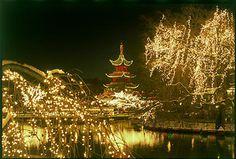 Magical Tivoli Christmas lights.