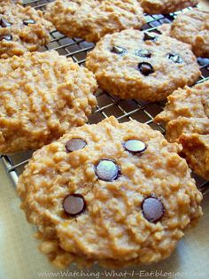 33. Peanut Butter Banana Oatmeal Breakfast Cookies #healthy #breakfast #recipes…