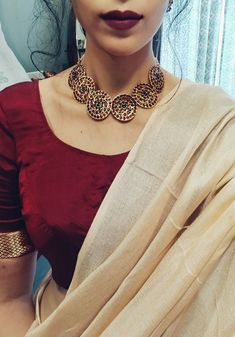 Indian Fashion Dresses, Indian Bridal Fashion, Indian Designer Outfits, Indian Outfits, Simple Pakistani Dresses, Simple Sarees, Saree Jewellery, Fancy Jewellery, Cotton Saree Designs