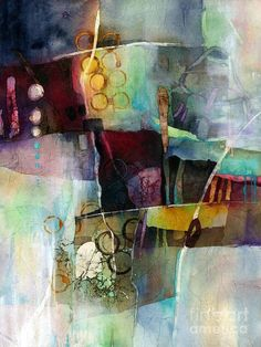 Calm Cascade Painting by Hailey E Herrera