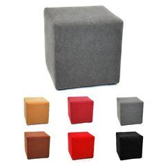 Pouf cube microfibre 35x35