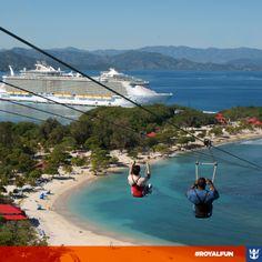 #royalfun Quem mais gostaria de estar deslizando aí em plena segunda-feira? *_*  E se você ainda não conhece essa sensação, reserve já o seu cruzeiro pelo Caribe!