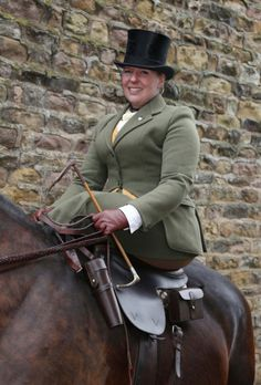 Sarah broke her back when she was thrown to the floor during an attack by a male passenger. It took her four months to recover and, although grateful to get back on a horse, she found that riding astride was, at best, uncomfortable. A side saddle provided a great alternative, allowing her to return to a hobby she took up at the age of nine.
