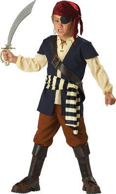 Pirate Mate Boys Costume (maybe order after halloween for Pirates League experience) A lot cheaper than buying the ones they offer at Disney.