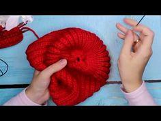 Шапка БИНИ спицами. ТРЕНД Шапка резинкой. Knit Mom мк мастер-класс knitting урок своими руками hat - YouTube
