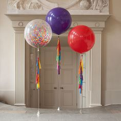 Isnt this a Gorgeous Giant Balloon??!! Make a big statement and leave a huge impression at your event with this beautiful 36 balloon. This is a Clear Balloon, fill it with 3 colors of confetti!! When you make your purchase, please leave me a note with the 3 colors of your choice. It comes with a tassel in coordination with the selected confetti colors, please choose your desired length. Just take this balloon to your favorite party store to fill it with helium gas. I make custom orders…
