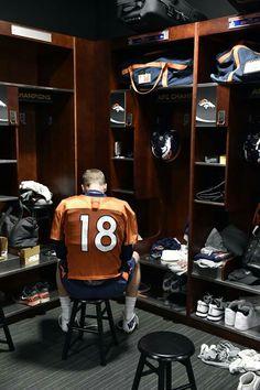 Peyton Manning, always studying and preparing.