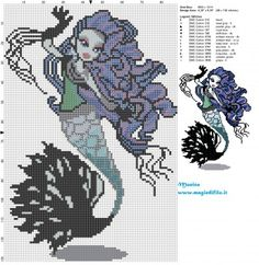 Schema punto croce Sirena Von Boo (Monster High) 88x131 14 colori.jpg