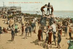 Jolly bathers Of Asbury Park Postcard