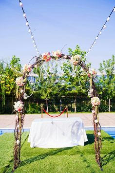 Wedding arch flower deco