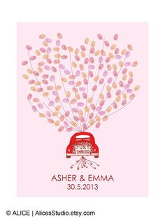 This is a fantastic alternative to traditional guest book. It is an interactive and a beautiful keepsake for you to cherish for years to come! #wedding #guestbook #thumprintguestbook #weddingideas