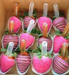 Alcohol infused strawberries!!! Yum!!