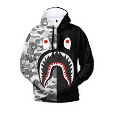 Black And White Suit, Bape, Fashion Pants, Mens Suits, Shark, Motorcycle Jacket, 3d Printing, Hoodies, Sports