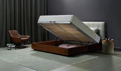 Serenade Storage Bed by King Living Australia / Beds and Sofa Beds, Bedroom