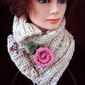 Rib Knit Scarf  - via @Craftsy