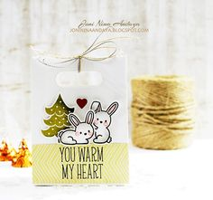 Lawn Fawn - Snow Day + coordinating dies, Goodie Bag Lawn Cuts die _ adorable gift bag by Joni via Flickr - Photo Sharing!
