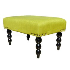 Add some color to your live with this lovely lime Ottoman.