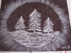 Snowy Trees. Great step by step for the kids!