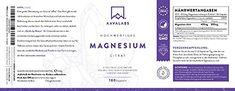 Magnesiumcitrat Kapseln  180 Stück von Aava Labs - Neue Formel: KEIN Magnesiumstearat - 100% Vegan & NON-GMO - Reiner Nährstoff, nicht gestreckt - Für Muskel und Nerven Funktion - Hergestellt in der EU. Labs, Vitamins, Vegan, Personalized Items, Muscle, Lab, Vitamin D, Labradors, Labrador