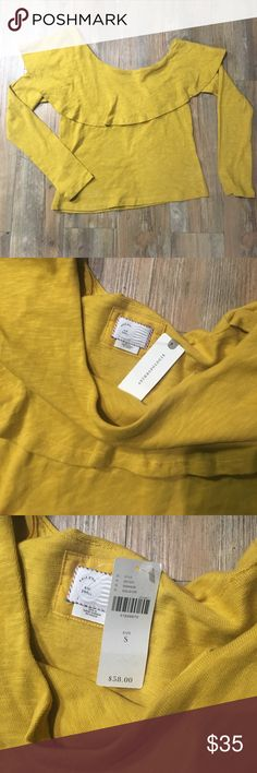 NWT Anthropologie off the shoulder top Size small! NWT. Took a risk but it's not working for me. Anthropologie Tops