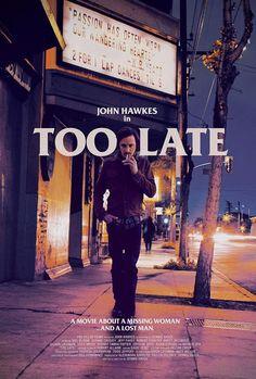 TOO LATE (USA 2015) von Dennis Hauck mit einem tollen John Hawkes, mein dritter Film beim Internationalen Filmfest Oldenburg. Noir mit ein wenig Tarantino. Der Film besteht aus fünf Teilen, die in einem Take gedreht wurden, ihre Reihenfolge ist jedoch nicht chronologisch. In meinen Augen ist dieses Experiment gelungen. Und auch die Kameraarbeit ist sehr interessant. Der Film wurde auf 35 mm gedreht. Sehr lobenswert!