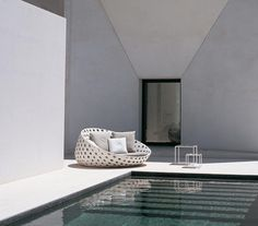 White Paio & Poolwide Furnishings - Other Canasta option by B & B in a white finish, a more modern feel