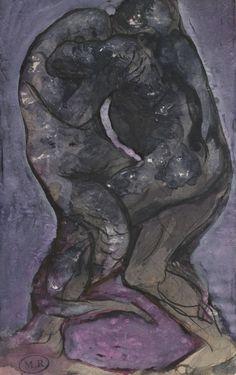 L'Enfer selon Rodin | Musée Rodin Lutte d'un homme et d'un reptile dite Transmutation de l'homme en reptile  1880, crayon au graphite ; plume-encre (noire) ; lavis d'encre (brune, noire, rouge et violette) ; rehaut-gouache (blanche)   © Musée Rodin, Jean de Calan